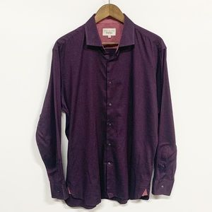 Ted Baker | Maroon Checkered Button Down Shirt